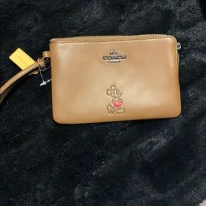 Authentic coach Mickey Mouse wristlet